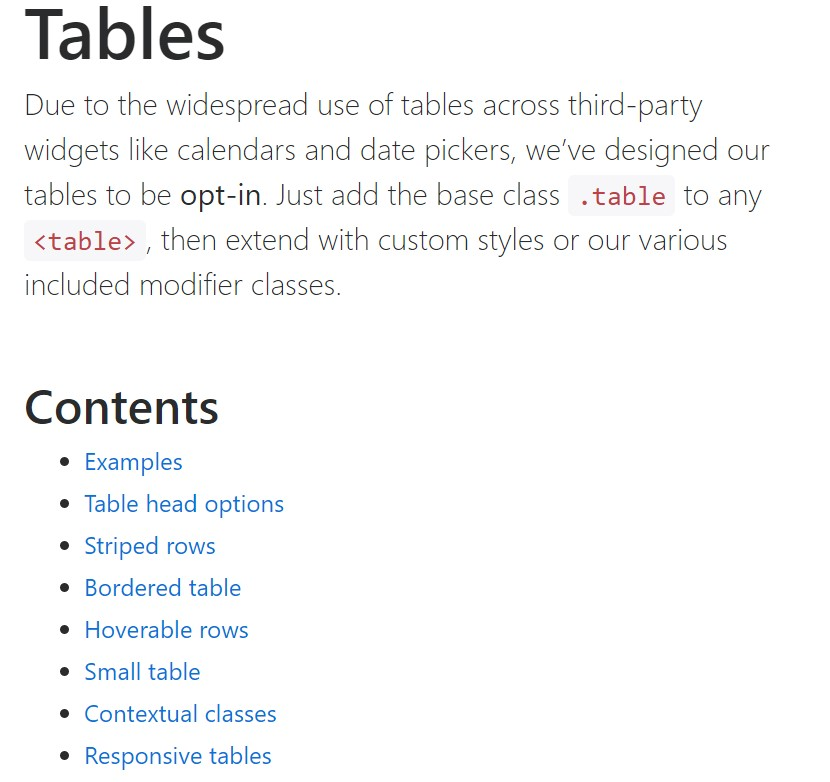 Bootstrap tables  authoritative  information