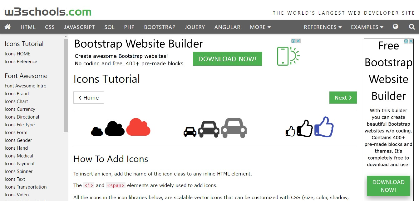 how to add iconfonts