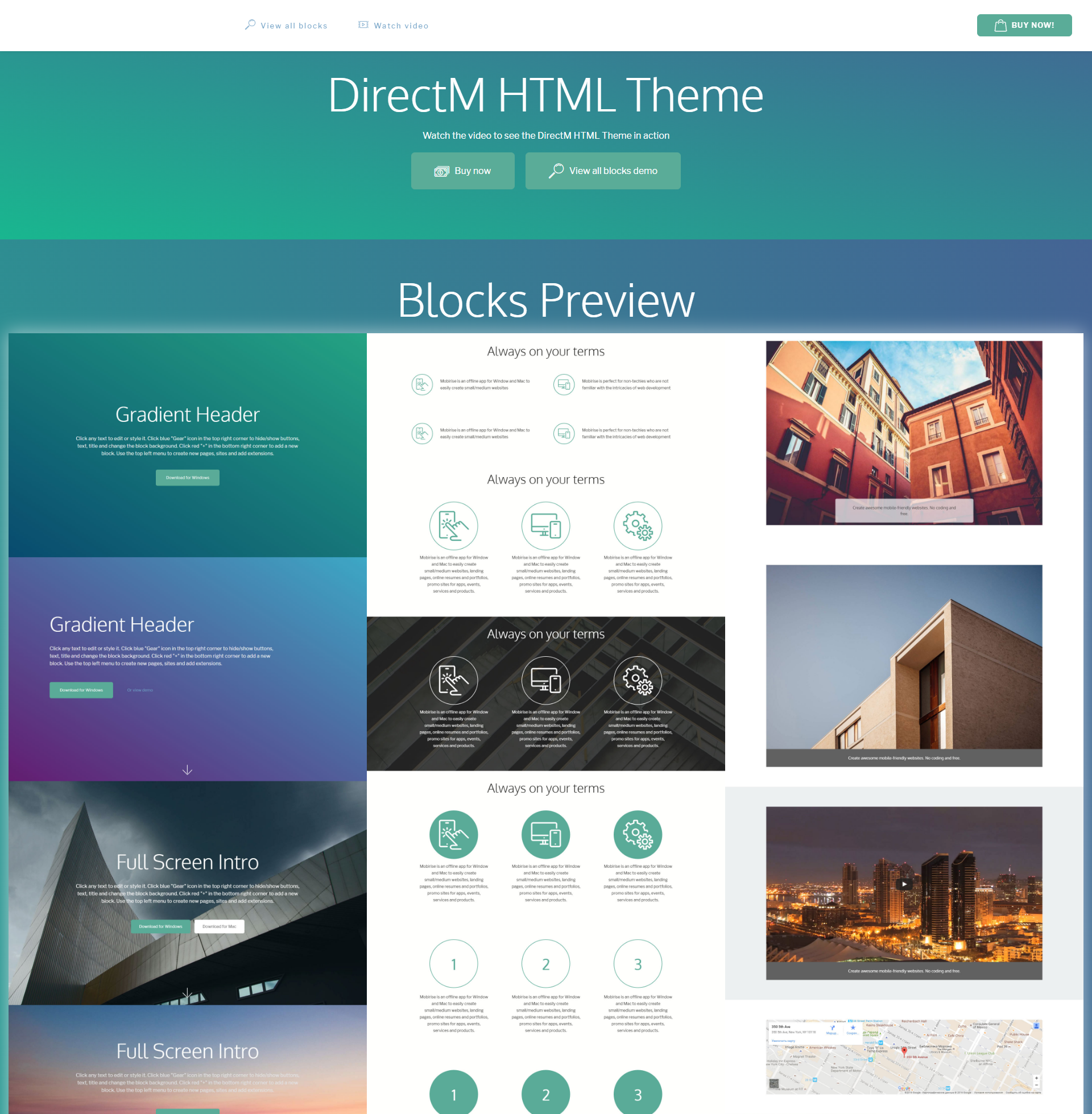 Responsive Bootstrap DirectM Templates