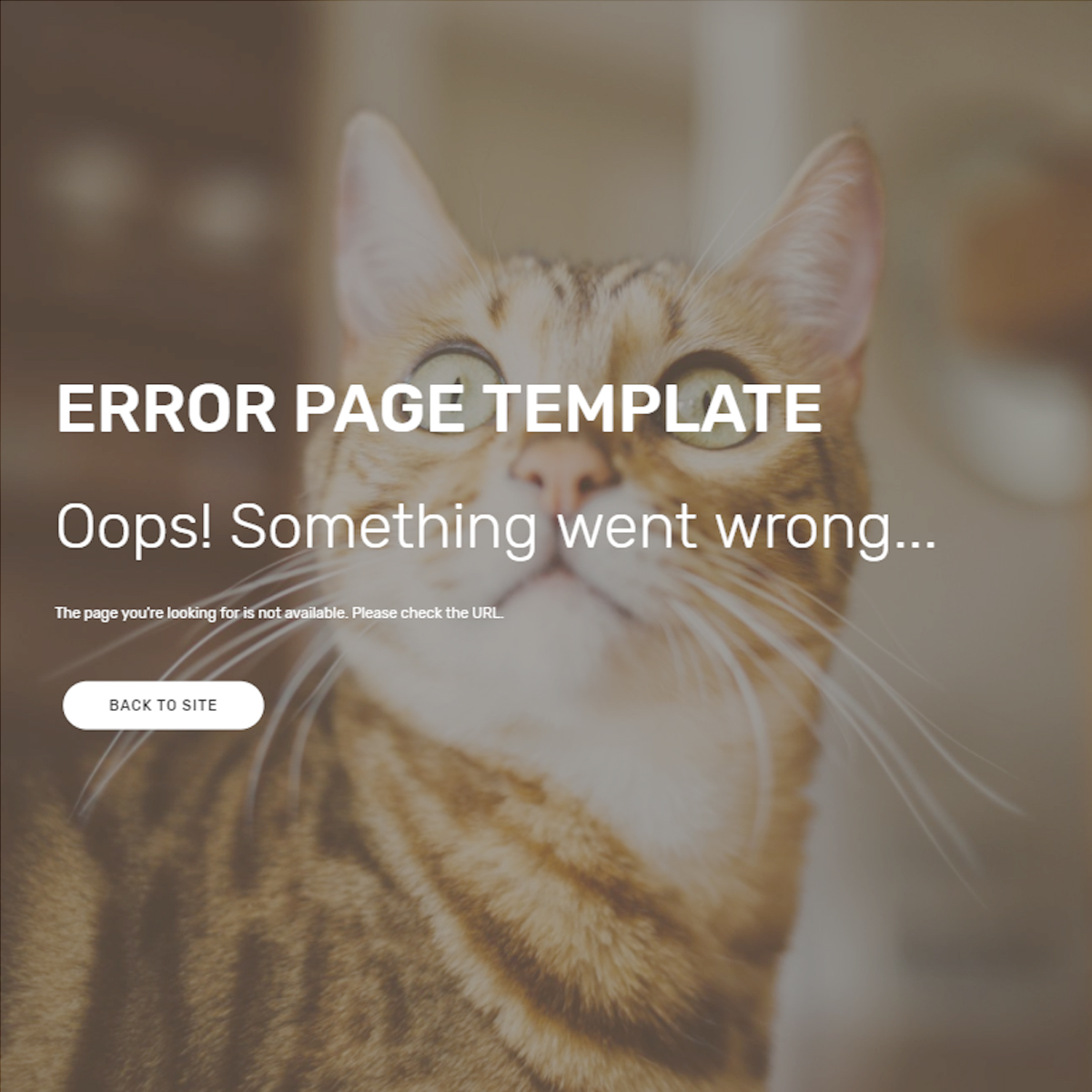 Free Download Bootstrap Error Page Templates
