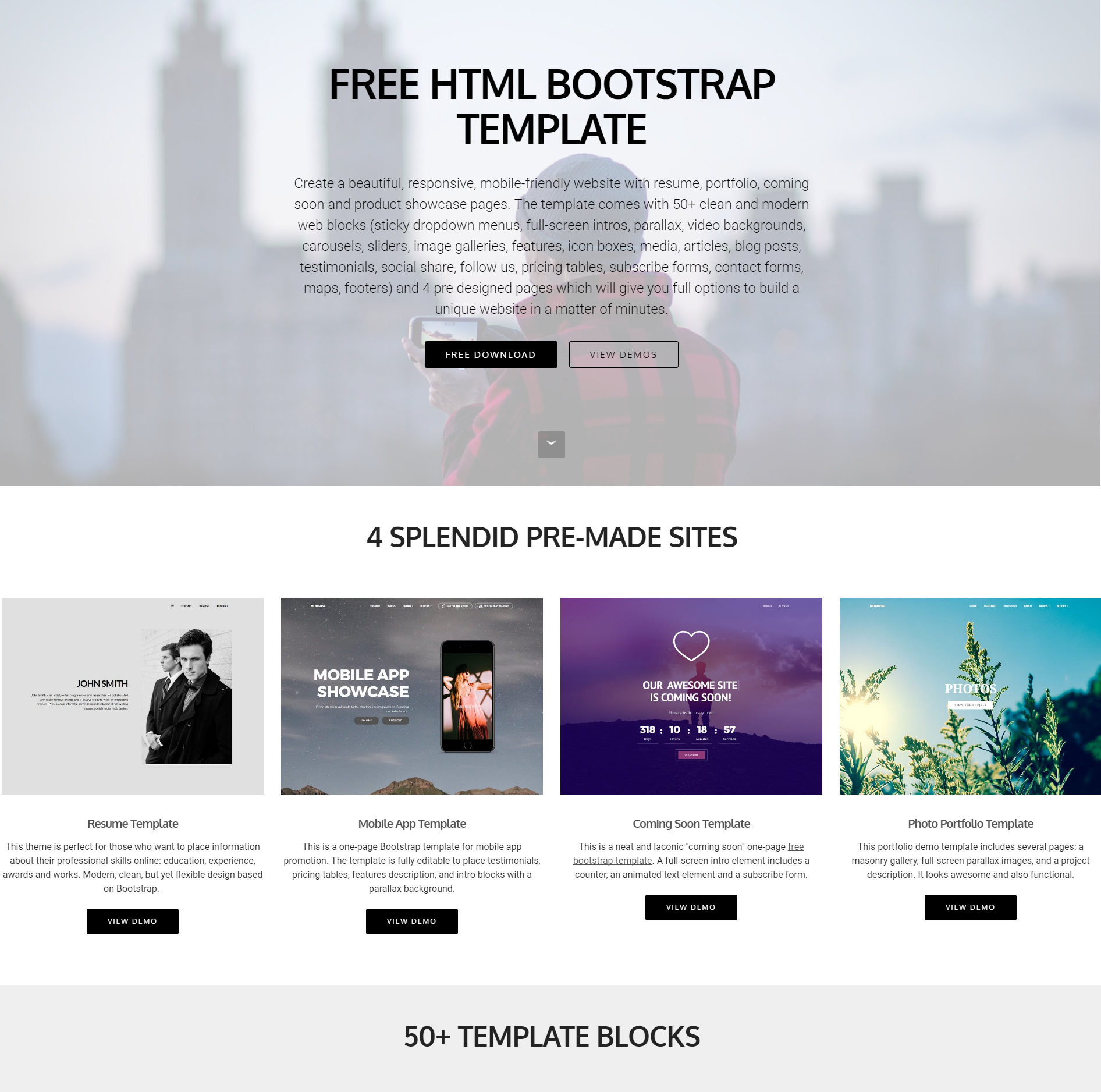CSS3 Bootstrap Templates