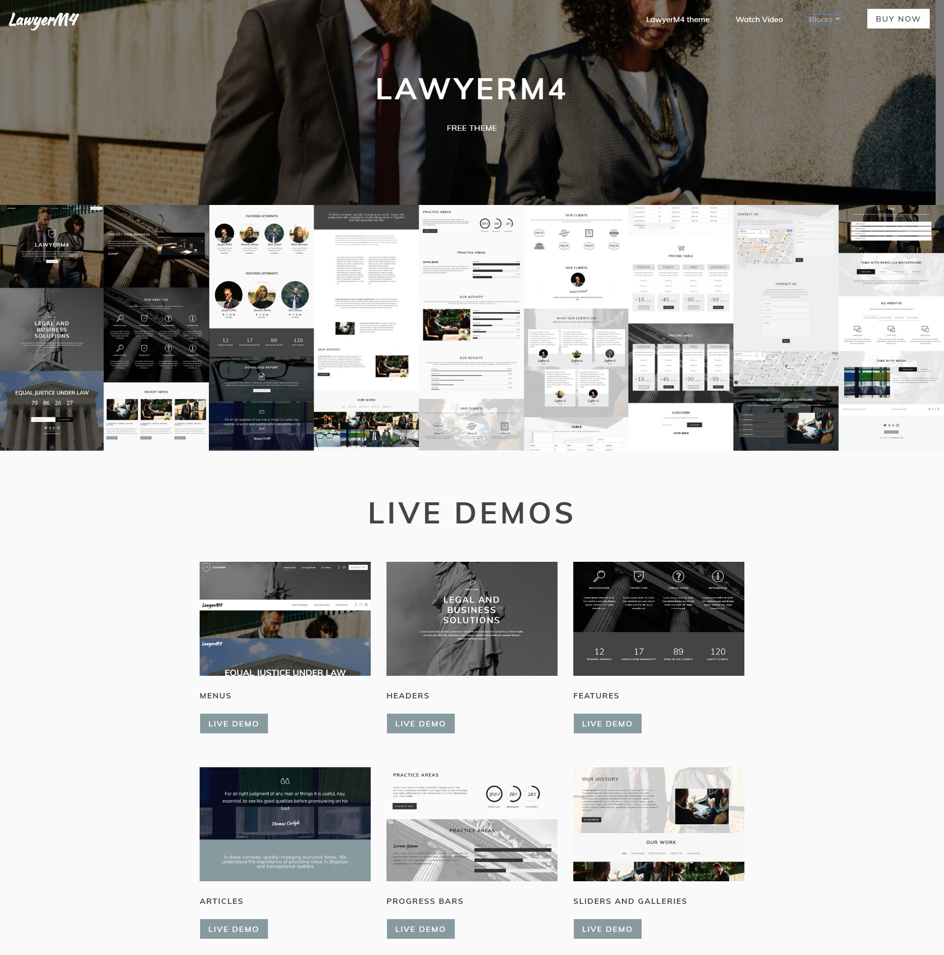 HTML5 Bootstrap LawyerM4 Themes