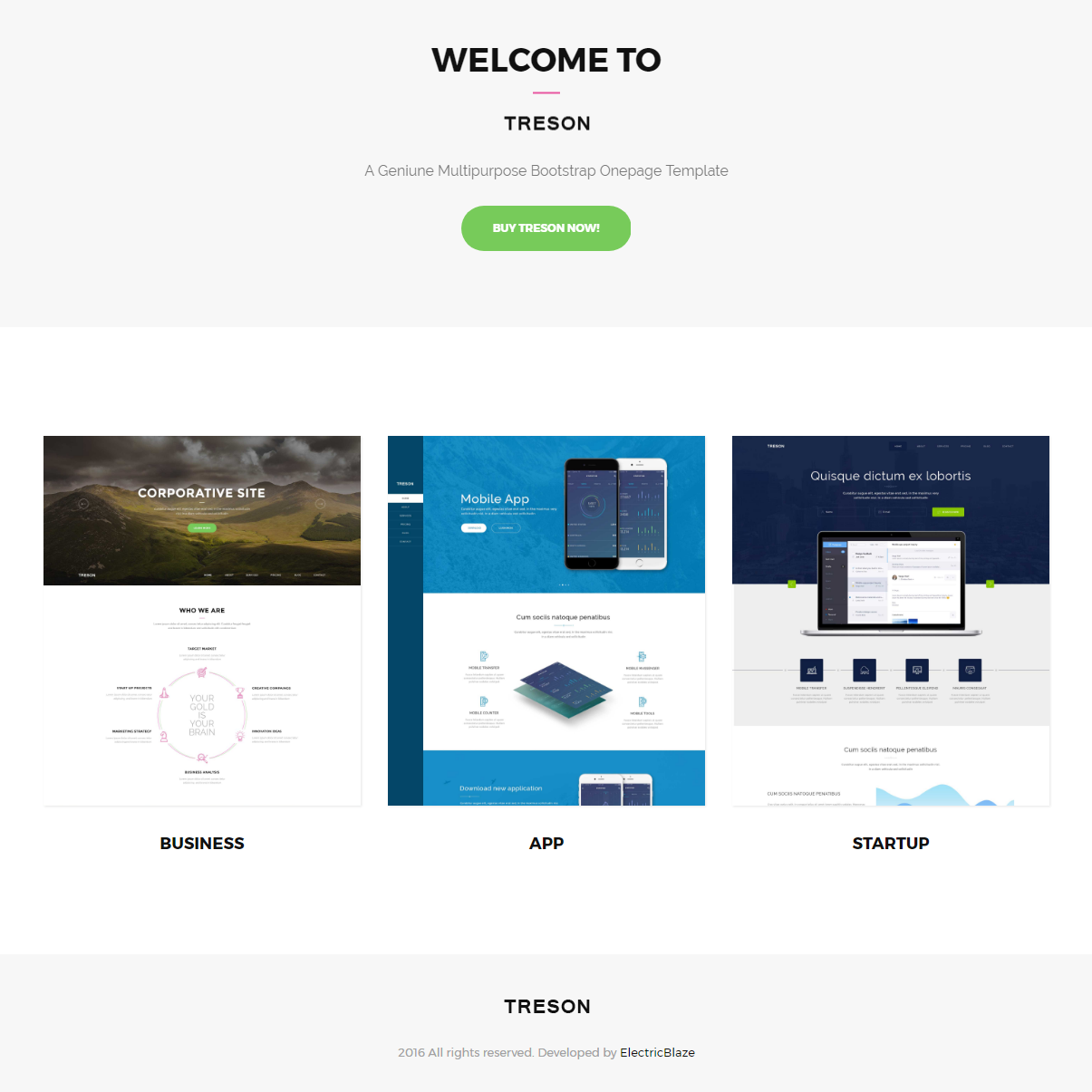 Free Download Bootstrap Treson Templates