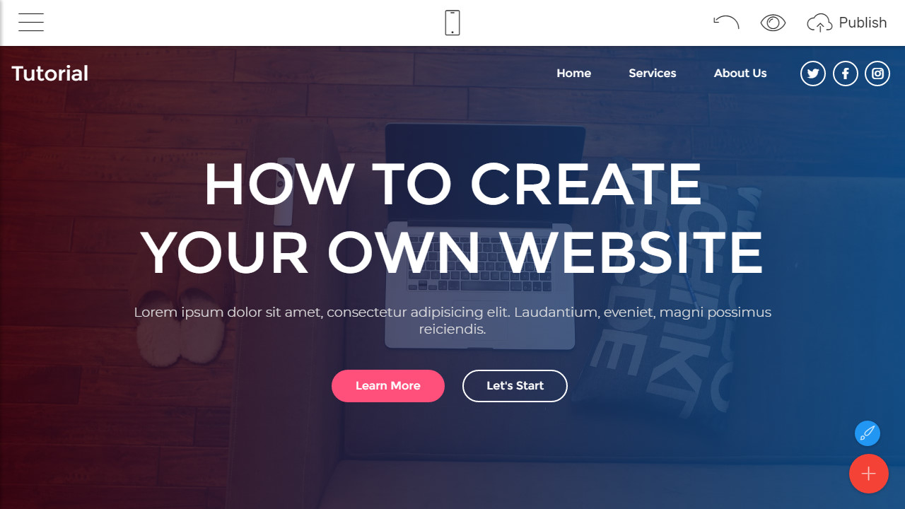 How To Build Your Own Website Webdesign Tutorial