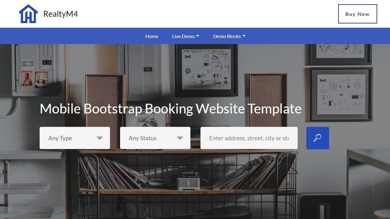 Responsive Bootstrap Theme For Realtors