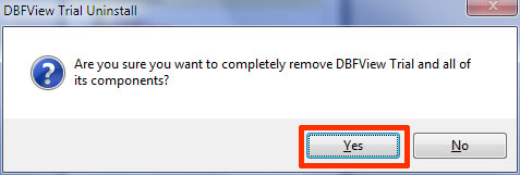 DBFView Uninstallation